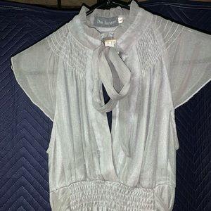 Silver/ Gray Short Sheer Dress